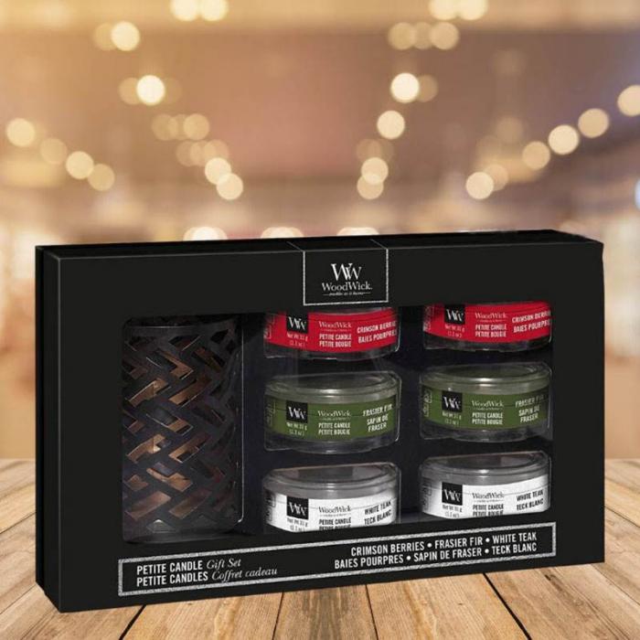 Set cadou lumanari parfumate WOODWICK Woodland Deluxe 0