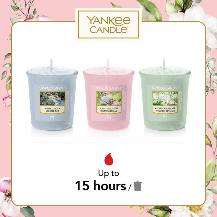 Set cadou lumanari parfumate Yankee 3 VOTIVE GARDEN HIDEAWAY PURSE 1