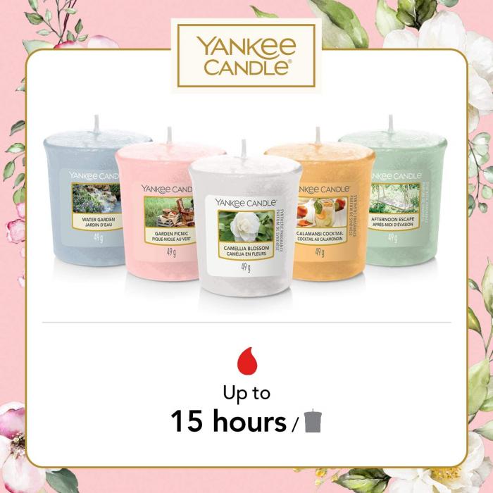 Set cadou lumanari parfumate Yankee 5 VOTIVE GARDEN HIDEAWAY 1