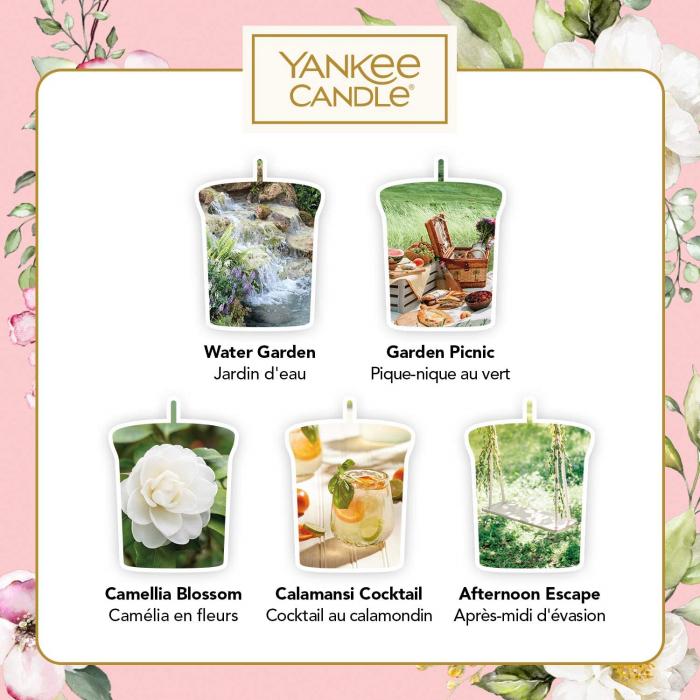 Set cadou lumanari parfumate Yankee 5 VOTIVE GARDEN HIDEAWAY 2