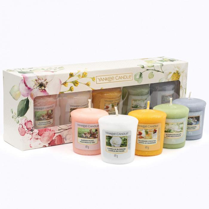 Set cadou lumanari parfumate Yankee 5 VOTIVE GARDEN HIDEAWAY 3