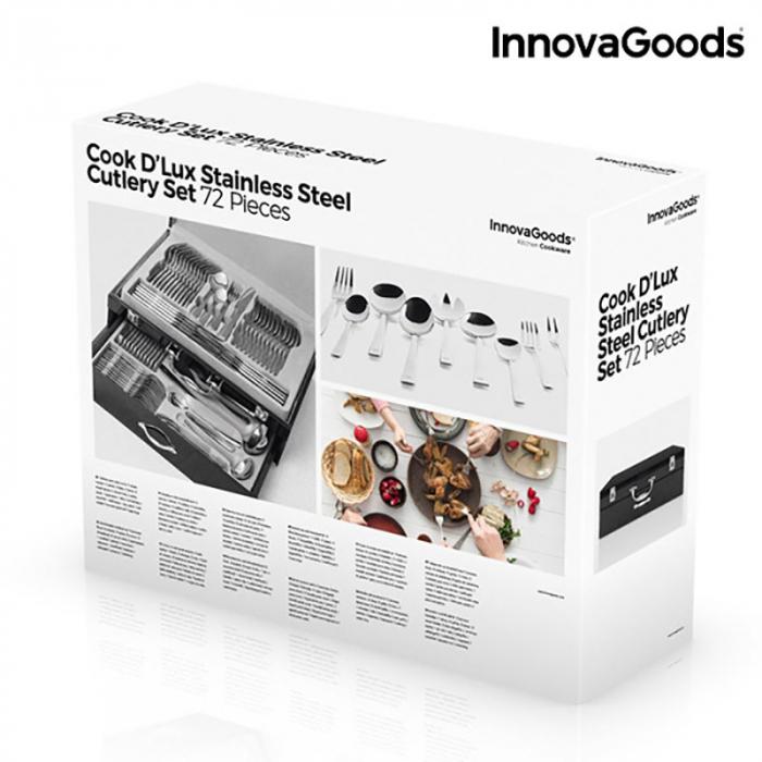 Set cadou tacamuri otel inoxidabil Caseta D'Lux Cook, 72 de piese 7