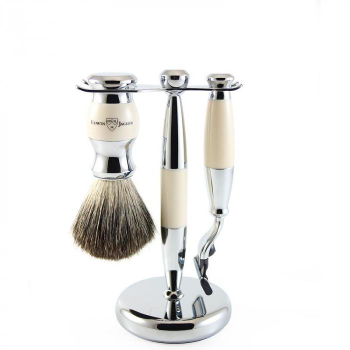 Set de barbierit 3 piese Ivory Mach3 Edwin Jagger 2