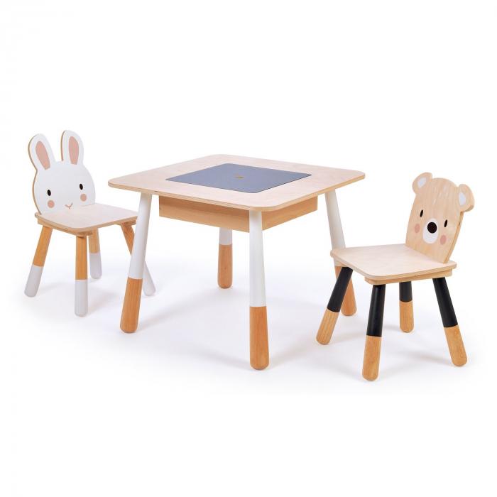 Set din lemn Masuta copii cu doua scaunele 4