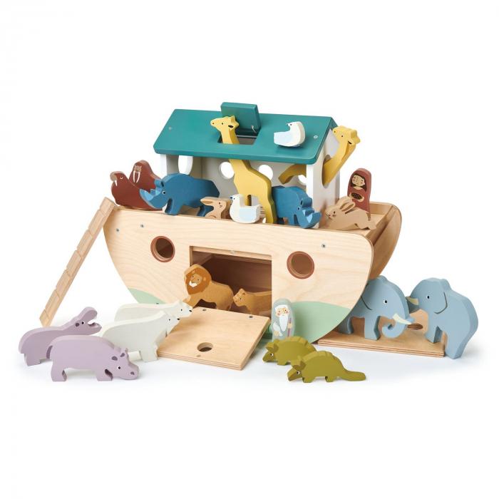 Set jucarii din lemn Arca lui Noe, Joc de sortare, 25 piese 3