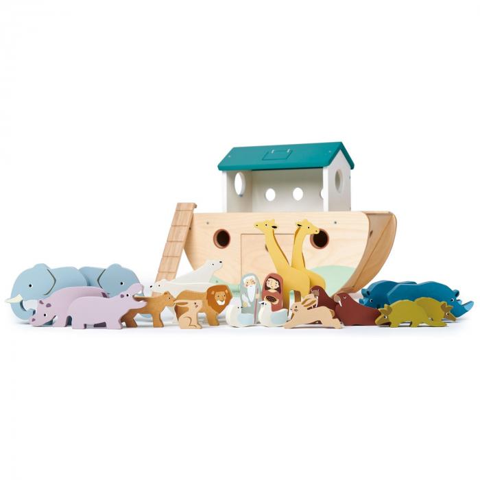 Set jucarii din lemn Arca lui Noe, Joc de sortare, 25 piese 5