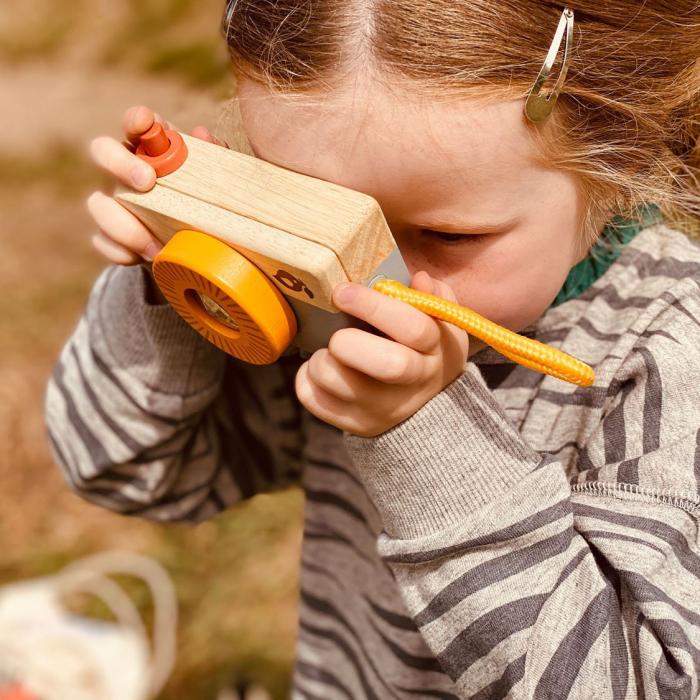 Set jucarii din lemn Kitul exploratorului Safari, 10 piese 2
