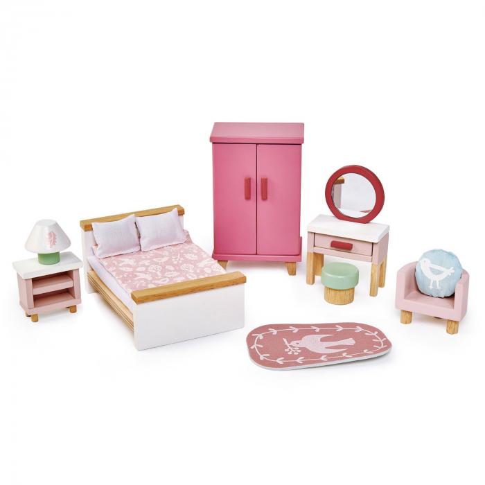 Set jucarii din lemn Mobilier dormitor, 15 piese 2