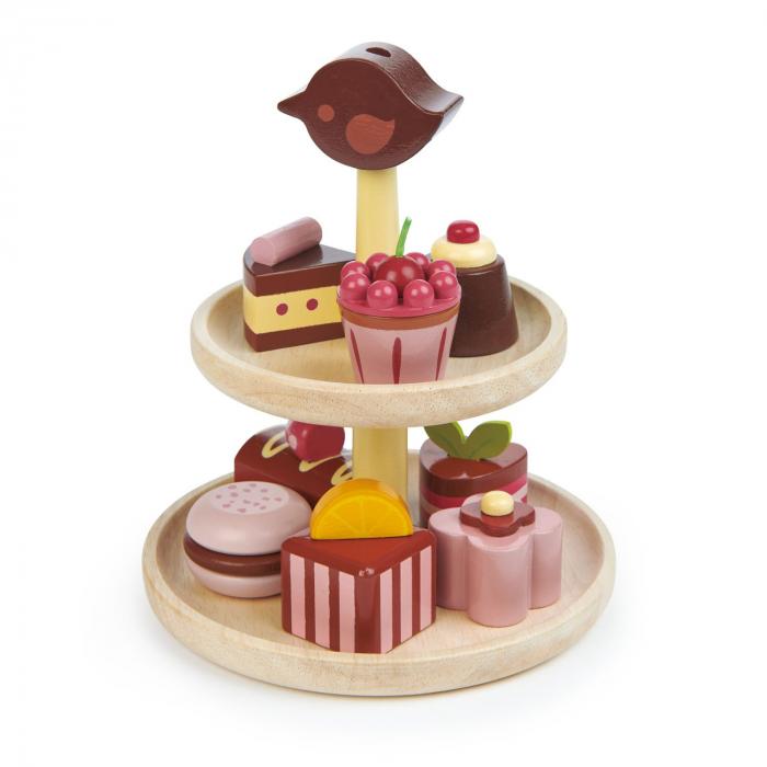 Set jucarii din lemn Prajituri cu ciocolata, 9 piese 3