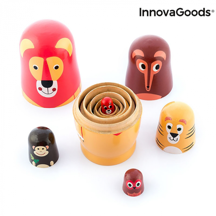 Set Papusi Matryoshka figurine animale, 11 piese 6