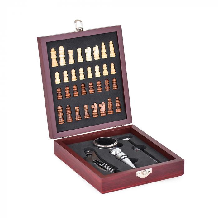 Set sah si accesorii vin Checkmate, Caseta rafinata [5]