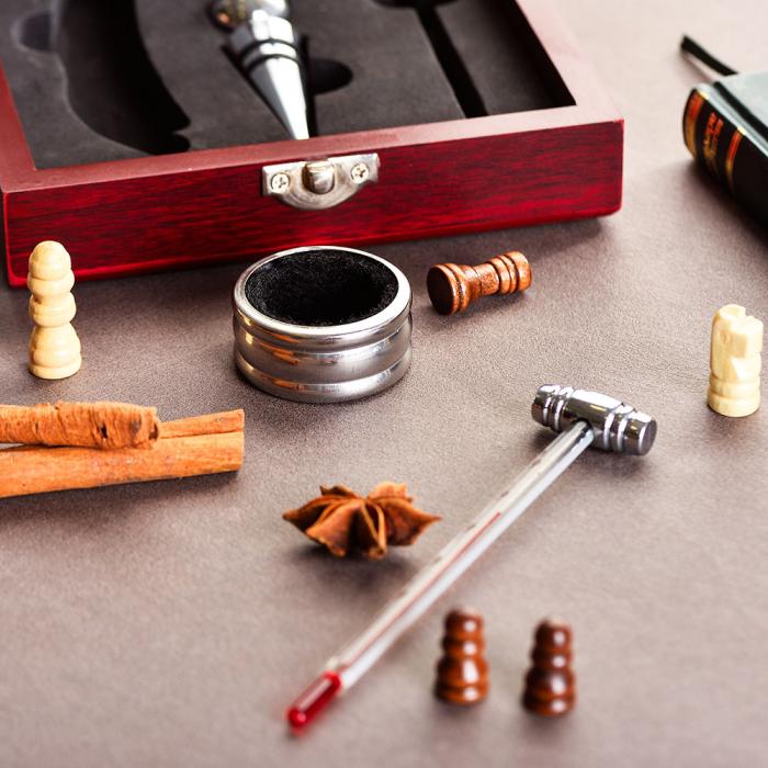 Set sah si accesorii vin Checkmate, Caseta rafinata [4]