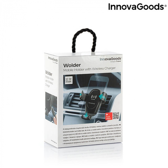 Suport telefon auto cu incarcator wireless Smarty Holder 8