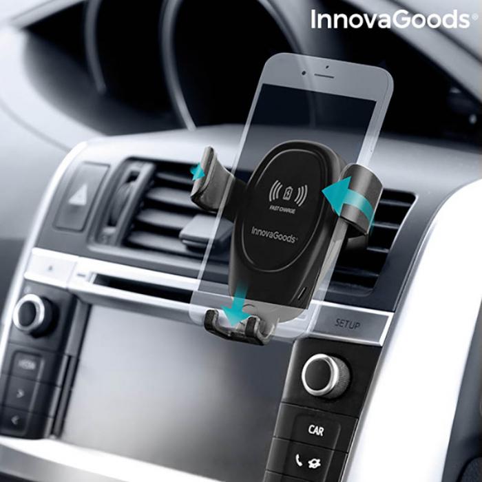 Suport telefon auto cu incarcator wireless Smarty Holder 4