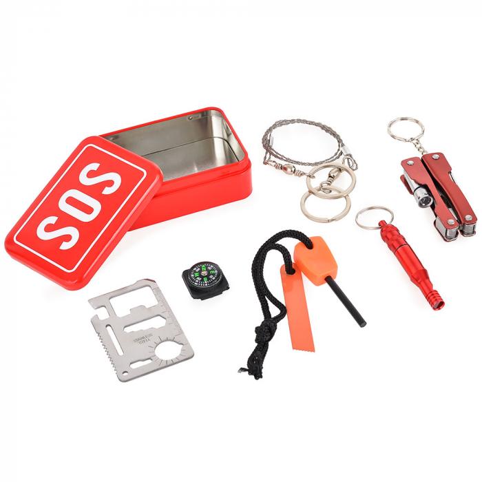 SOS Kit supravietuire multifunctional, 6 unelte [9]