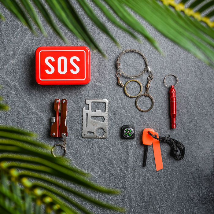 SOS Kit supravietuire multifunctional, 6 unelte [0]