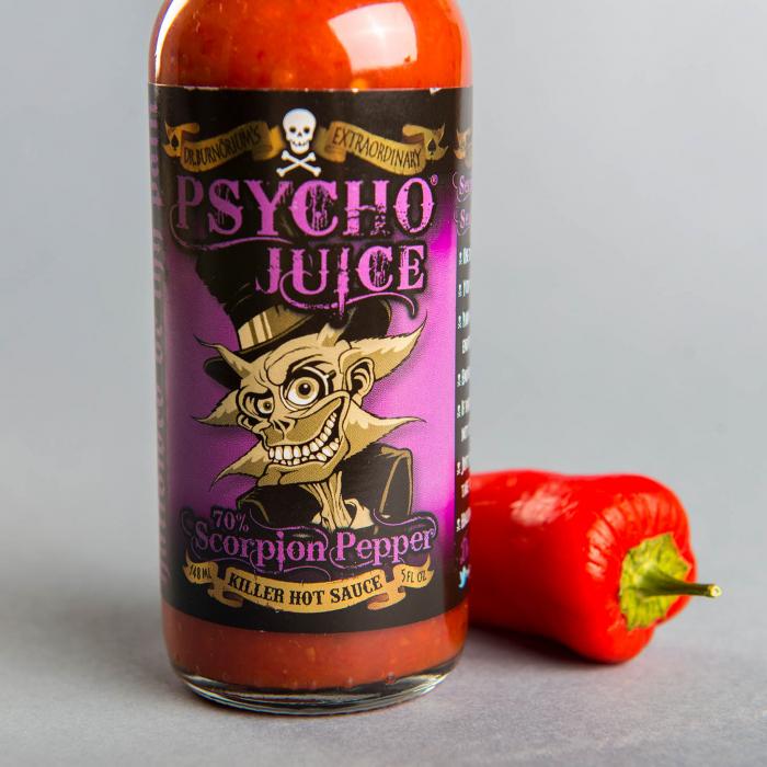 Sos picant Psycho Juice Scorpion Pepper [iuteala 10+] 0