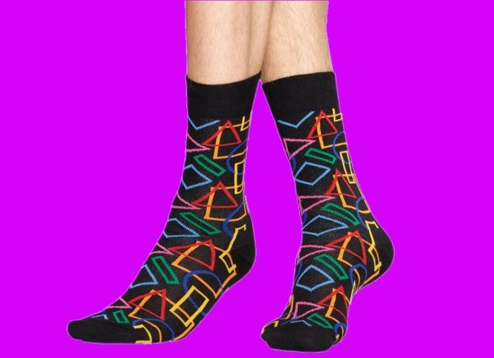 Sosete geometrice Happy Socks 0