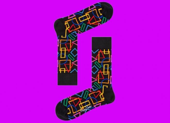 Sosete geometrice Happy Socks 2