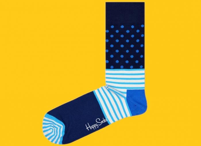 Sosete Happy Socks albastre funky 2