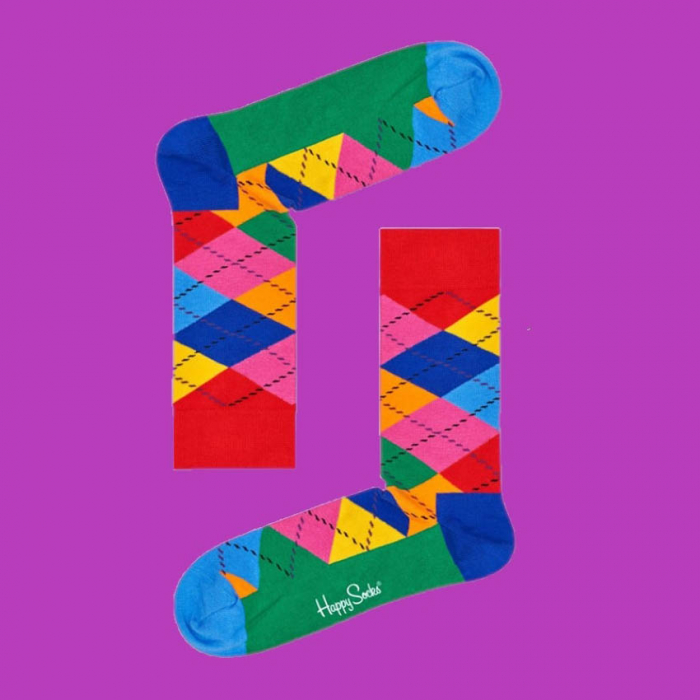 Sosete Happy Socks cu romburi 0