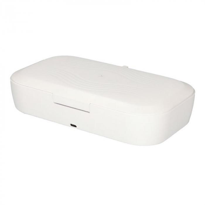 Sterilizator UV caseta alba cu incarcator wireless 5