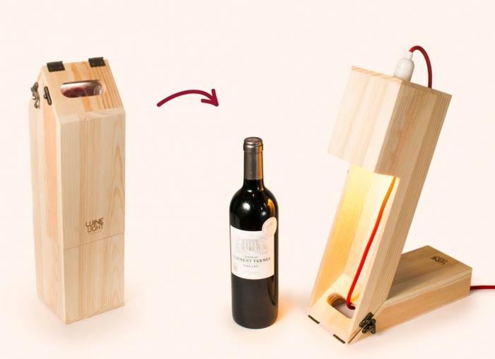 Suport din lemn veioza pentru vin 1