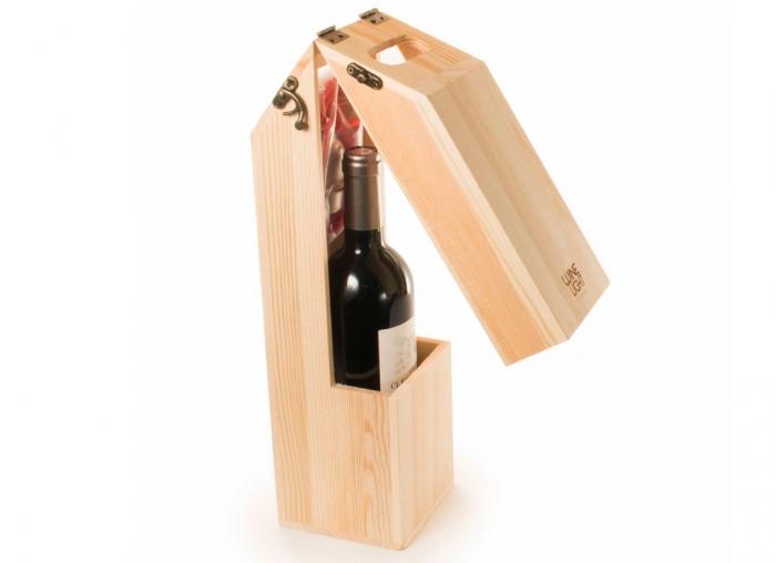 Suport din lemn veioza pentru vin 5