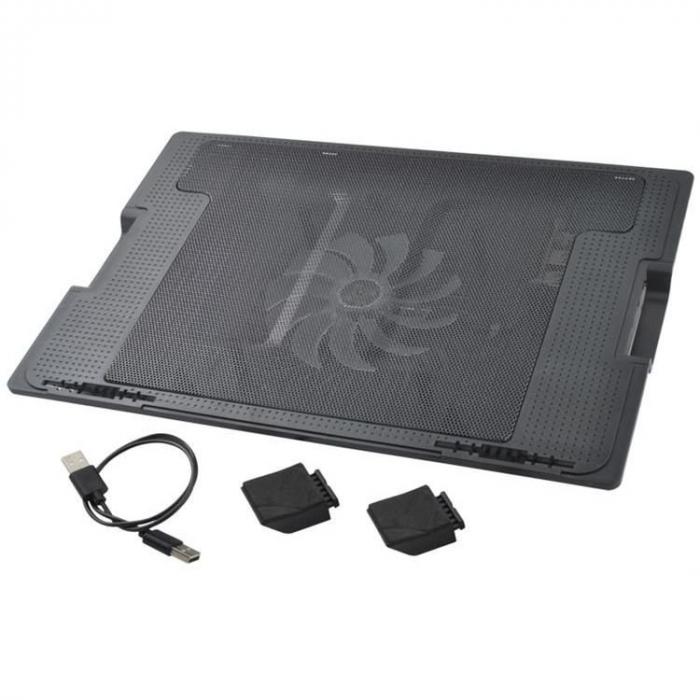 Suport laptop reglabil cu ventilator de racire LED 5