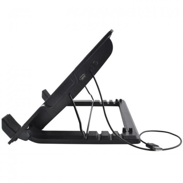 Suport laptop reglabil cu ventilator de racire LED 6