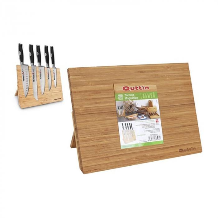 Suport magnetic din bambus pentru cutite 1
