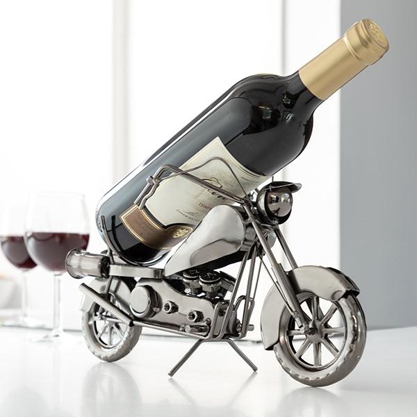 Suport sticla de vin Motocicleta metalica 0