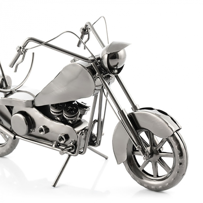 Suport sticla de vin Motocicleta metalica 2