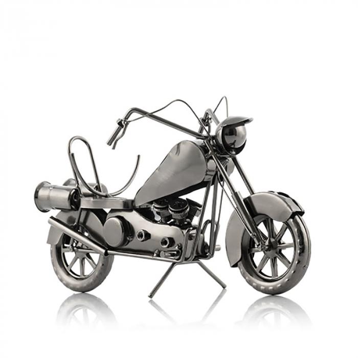Suport sticla de vin Motocicleta metalica 1