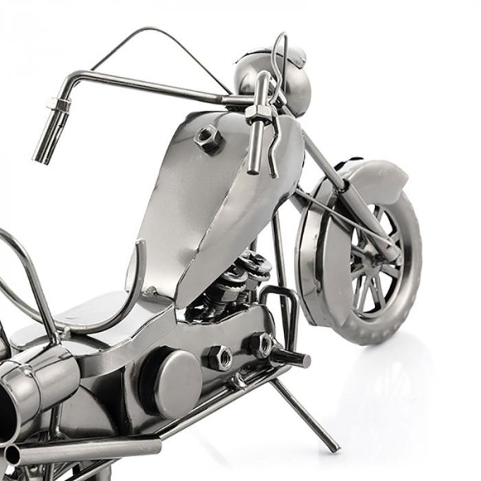 Suport sticla de vin Motocicleta metalica 3