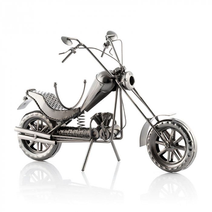 Suport sticla de vin Motocicleta metalica CHOPPER 2