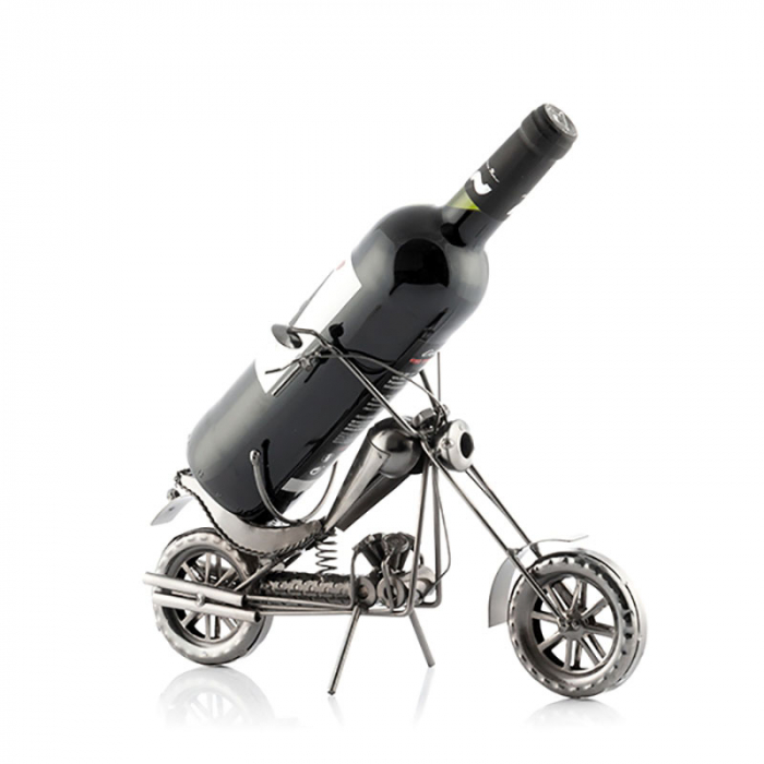 Suport sticla de vin Motocicleta metalica CHOPPER 1
