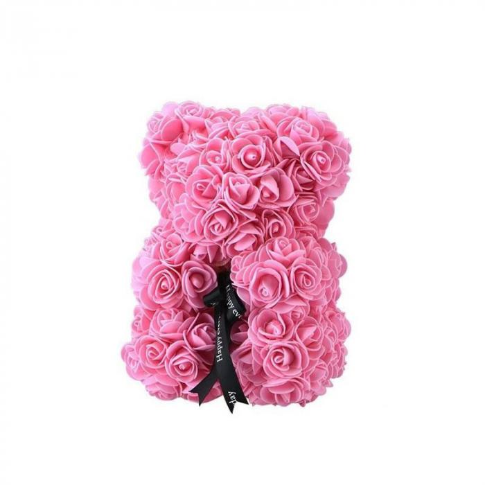 Ursulet din spuma roz, 25 cm, cutie cadou 1
