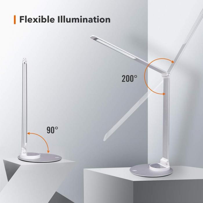 Veioza LED TaoTronics 3 moduri de iluminare 550 lm 4