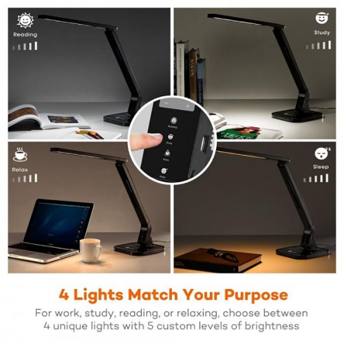 Veioza LED TaoTronics 4 moduri iluminare 530 lm 3