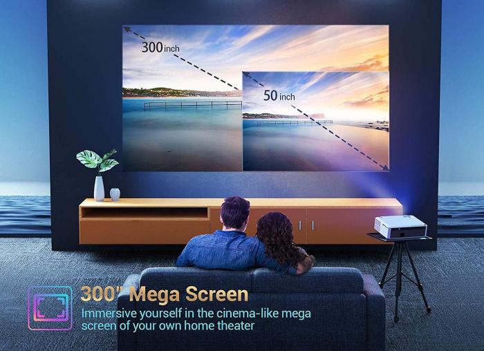 Videoproiector Vankyo Performance 6000 lumeni, cu geanta de transport, HDMI, LED, 1080p Native 5