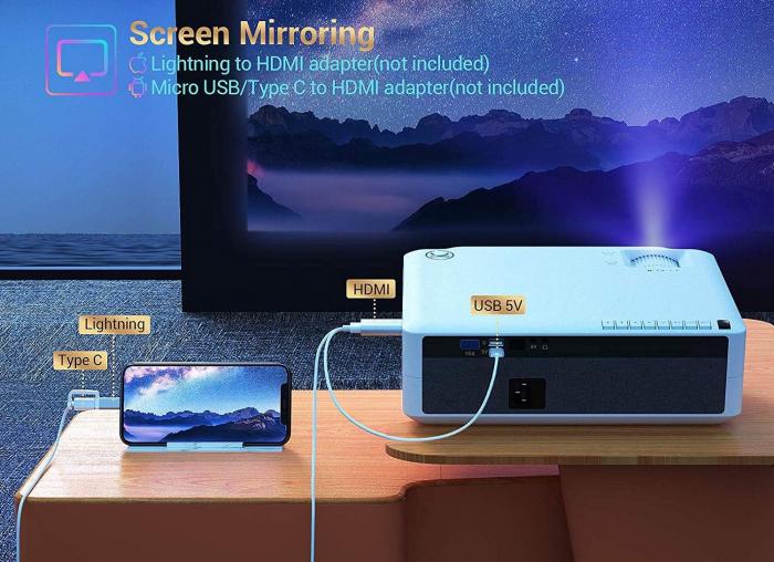 Videoproiector Vankyo Performance 6000 lumeni, cu geanta de transport, HDMI, LED, 1080p Native 1