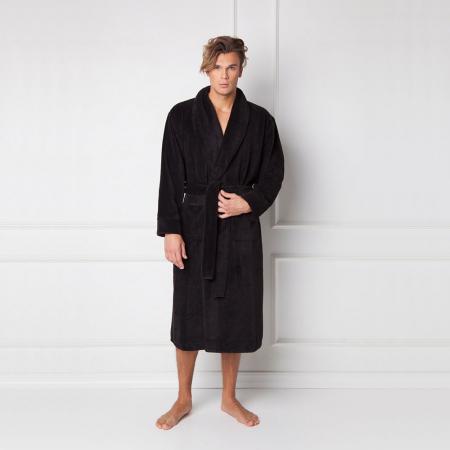 Halat de baie barbati, Fernand negru0