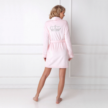 Halat de baie dama Elly roz1