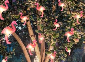 Instalatie de lumini Flamingo Roz2