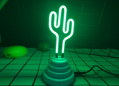 Lampa Neon Cactus0