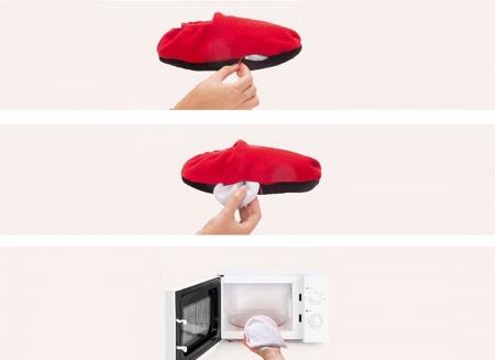 Papuci cu incalzire la microunde, Rosii1