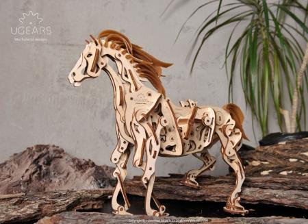 Puzzle 3D Cal Bionic din lemn Ugears [3]