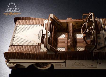 Puzzle 3D Dream Cabriolet VM-05 din lemn Ugears9