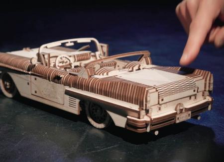 Puzzle 3D Dream Cabriolet VM-05 din lemn Ugears10